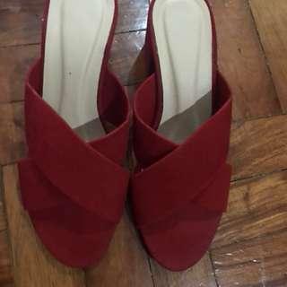 Box heels Slip On