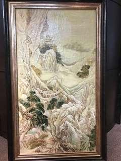 再減搬遷-古代香港海景 油畫 /山水油畫