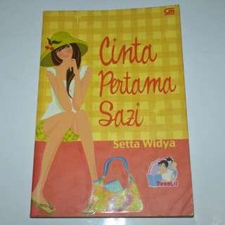 Novel Cinta Pertama Sazi - Setta Widya Teenlit
