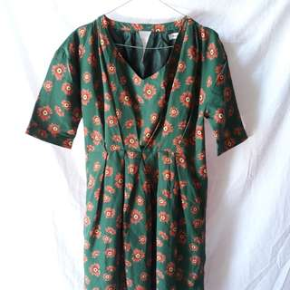 Floral vintage dress length 90cm Discount 30%