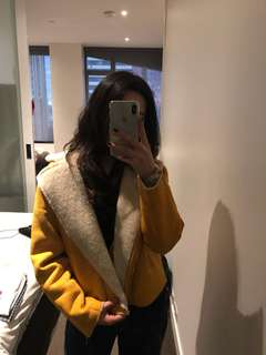 Mustard Yellow Fur Jacket