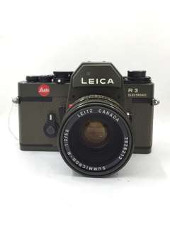 Leica R3 with 50mm F2 Olive Green