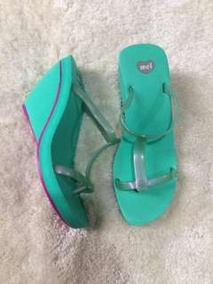 7US Melissa Wedge Blue Green