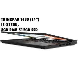 "Lenovo ThinkPad T480 - 14"" - Core i5 8250U - 8GB RAM - 512GB SSD"