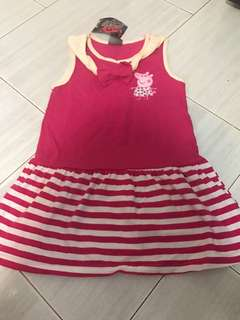 Instock peppa pig dress size for 3-4yrs old brand new