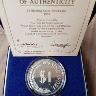 1978 Silver proof coin