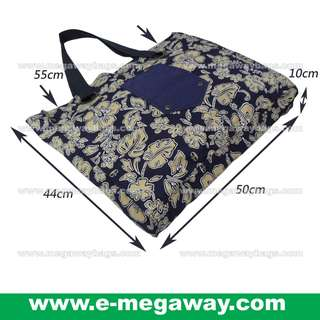 #Navy #Blue #Hawaii #Flower #Full #Print #Tote #Shoulder #Bags #Beach #Bag #Cotton #Recycle #Eco-friendly #Leisure #Young #Fashion #Designer #Shopping #Gym #Exercise #Yoga #Multi-Use @MegawayBags #Megaway #MegawayBags #CC-1589-81134