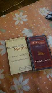 MITCH ALBOM BOOK BUNDLE OF 3 (Tuesdays with Morrie, The five people you meet in heaven,  For one more day)
