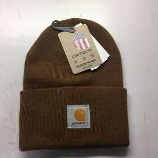 Carhartt 毛帽 土黃色