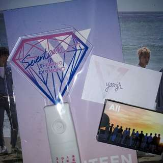 (READY STOCK) SEVENTEEN SHINING DIAMOND LIGHTSTICK + LOMO CARD