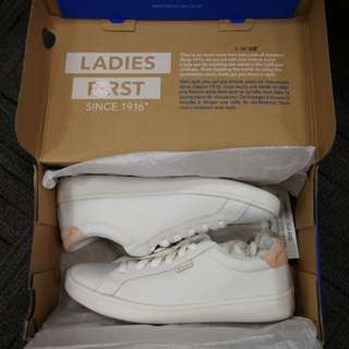 Ked's Ace Leather Sneakers (White/Blush)