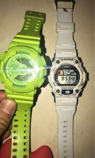 G Shock 手錶 (Green: $350 ; White $250)