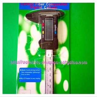 Carbon Fiber Composites 150mm Digital Vernier Caliper With Large LCD Screen Display Incl Battery