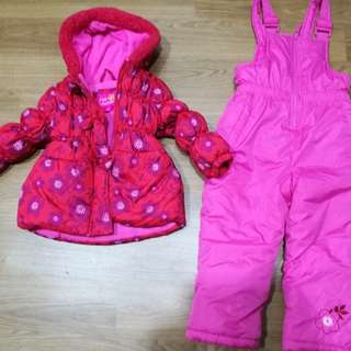 Pink Platinum snow suit