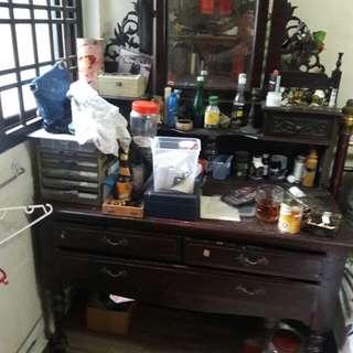 antique teak wood dressing table,