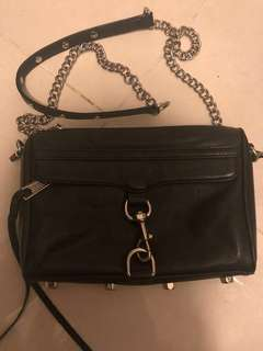 rebecca minkoff mini Mac black silver 黑色 鏈條斜咩袋 crossbody  bag