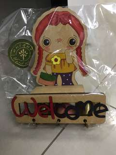 Girl Welcome Magnet with Bells