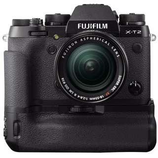 Fujifilm XT2 單機身 + VPB-XT2 原廠增能把手 + XF 18-55mm F2.8-4 MIJ