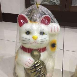 招財貓蠟燭