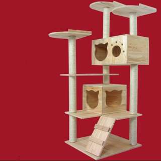 Solid wood Cat Condo