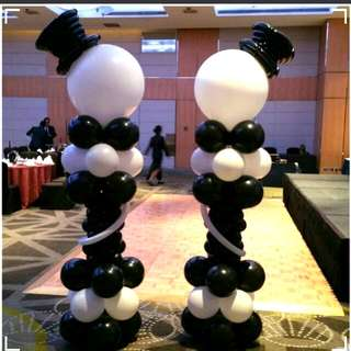 Special custom balloon column for private events