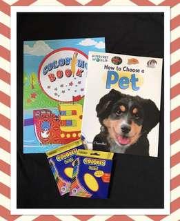 Colouring Book / Colour Pencils / Pet Book