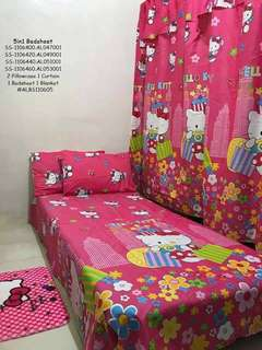 CARTOON CHARACTER CURTAIN AND CASE