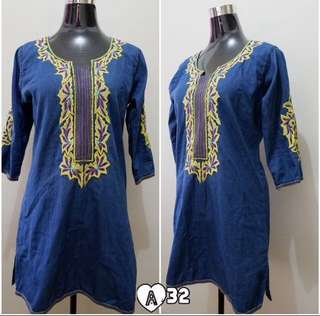 *Repriced! Denim Embroidery Dress
