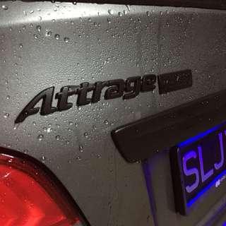 Mitsubishi Attrage Plastidip spraying services Plasti dip