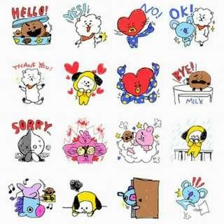 BT21 Wechat Stickers