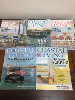 5 Coastal Living magazines $5 for all