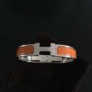 Hermes Clic H Bracelet (orange)