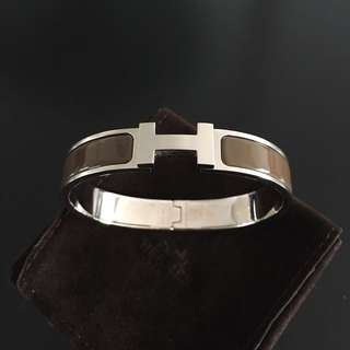 Hermes Clic H Bracelet (light brown - discontinued)