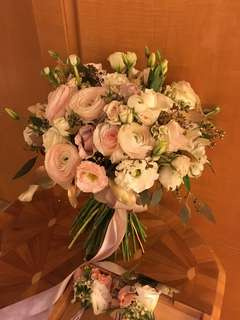 Bridal Bouquet in Rannuculus and Eustomas with Mix Fillers