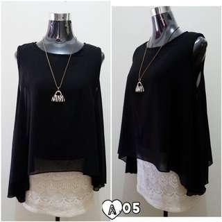 Blouson Tunic Mini Dress A05