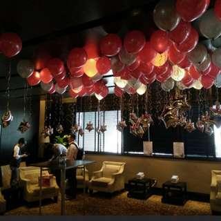 Birthdays helium balloon decoration