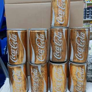 Coca Cola gold cans 1886~1986 50th anniversary Singapore