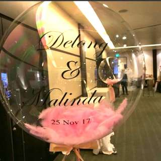 Customised personalized clear balloon