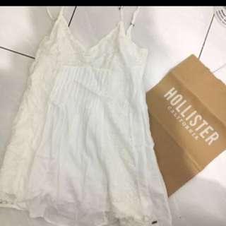 Hollister AF 白色蕾絲洋裝