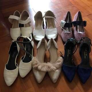 韓國 尖頭 粗踭 平底鞋 姊妹鞋 Shoes 毛毛鞋 涼鞋 高跟鞋 拖鞋