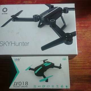 Drone SkyHunter X8 & JY018 pocket drone