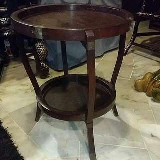 Very Old Side Table With Brass Hinges