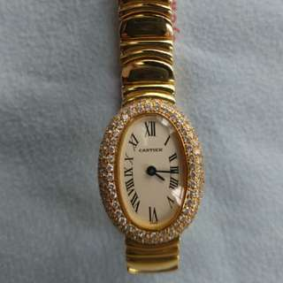 Cartier Lady Mini 18k Gold Quartz Diamond