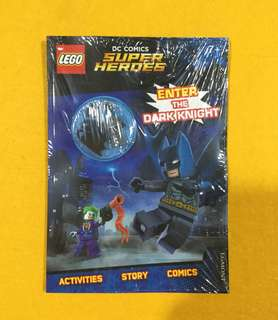 🆕Lego DC Super Heroes: Enter the Dark Knight (Activity Book with Batman Minifigure)
