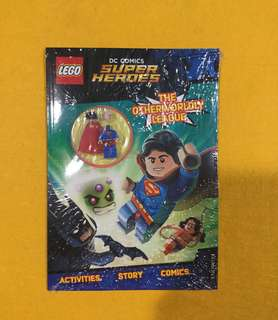 🆕Lego DC Super Heroes: The Otherworldy League! (Activity Book with Superman Minifigure)