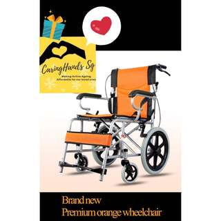 BN Premium Orange foldable Wheelchair