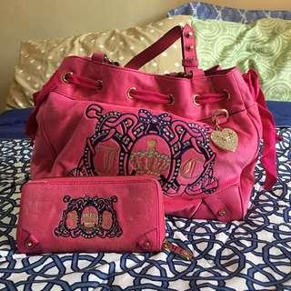 Original Juicy Couture Pink Bag and Wallet