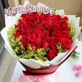 Fresh Flower Bouquet Anniversary Birthday Flower Gifts Graduation Roses Sunfowers Baby Breath -  1D0B4