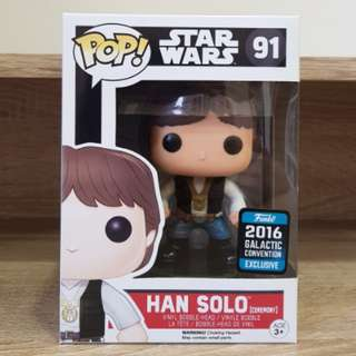 Star Wars Funko Pop Han Solo [Ceremony] 2016 Galactic Convention Exclusive