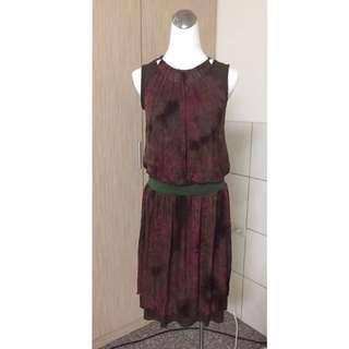 MOMA雪紡連身洋裝裙